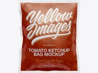Clear Plastic Bag With Sauce Mockup