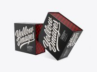 Two Glossy Paper Boxes Mockup - Half Side View