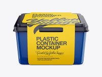 Plastic Container With Paper Label