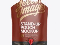 Matte Stand-Up Pouch Mockup - Front View