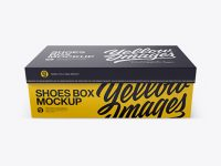 Shoes Box Mockup - Front View (High-Angle Shot)