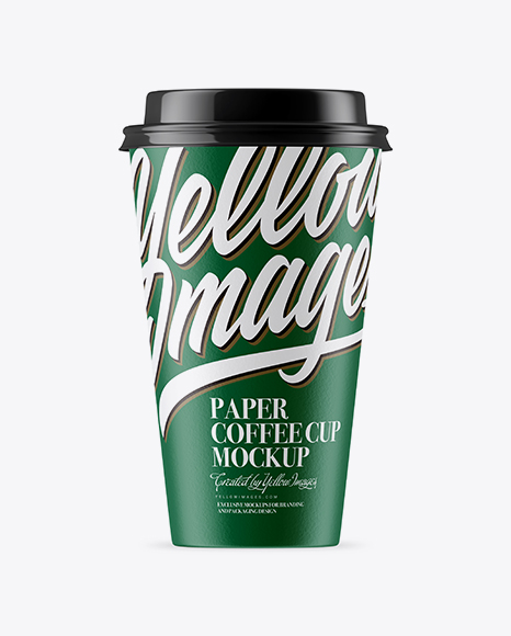 Middle Paper Coffee Cup Mockup