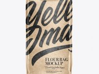 Kraft Flour Bag Mockup - Front & Side View