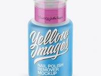Nail Polish Remover Bottle Mockup - Front View (High Angle Shot)