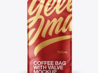 16oz Matte Metallic Coffee Bag Mockup - Front & Bottom Views