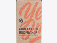 Kraft Paper Box with Hang Tab Mockup - FrontView (high-angle shot)