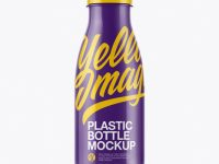 Glossy Plastic Dairy Bottle Mockup