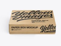 Kraft Paper Box Mockup (High-Angle Shot)