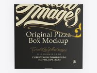 Pizza Box Mockup - Top View
