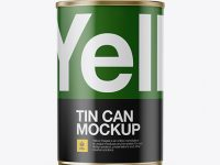 Tin Can Mockup - Front View