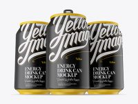 Three 330ml Matte Aluminium Cans Mockup - Hero Shot