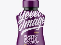 Glossy Plastic Drink Bottle Mockup