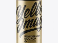 Metallic Powder Can Mockup