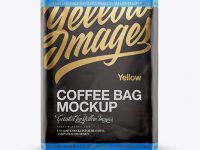 Folded Coffee Bag Mockup - Front View