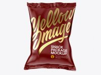 Matte Snack Package Mockup - Front View