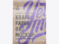 Glossy Kraft Paper Food/Snack Bag Mockup - Front View