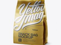 Metallic Snack Bag Mockup - Half Side View