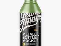 Textured Metal Drink Bottle Mockup