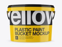 Glossy Protein Bucket Mockup - Front View