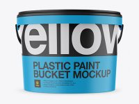 Matte Protein Bucket Mockup - Front View