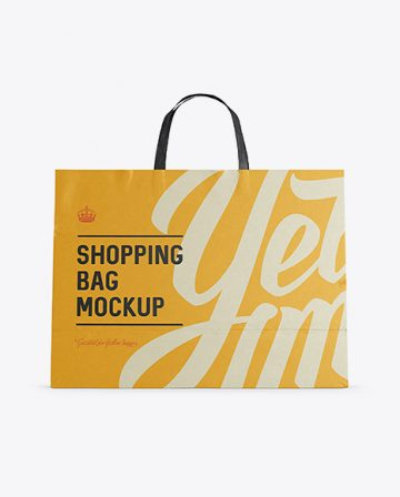 Paper Shopping Bag Mockup - Front View