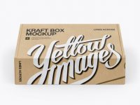 Kraft Box Mockup (High-Angle Shot)