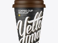 Matte Coffee Cup Mockup - Front View