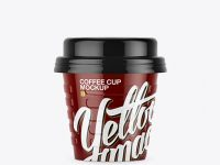 Glossy Small Coffee Cup Mockup - Front View