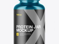 300ml Metallic Protein Jar Mockup