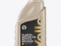Plastic Motor Oil Bottle Mockup