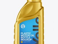 Metallic Motor Oil Bottle Mockup