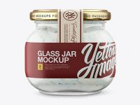 Glass Jar with Tartar Sauce - Front View