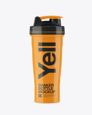 Glossy Shaker Bottle - Front View