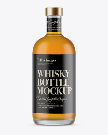 700ml Frosted Glass Whiskey Bottle Mockup