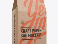Kraft Paper Box Mockup - Halfside View