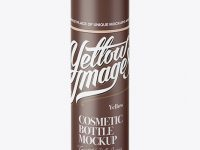 Matte Cream Bottle Mockup - High-Angle Shot