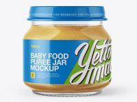 Baby Food Apple Puree Jar Mockup