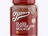 200g Instant Coffee Glass Jar Mockup - Front View