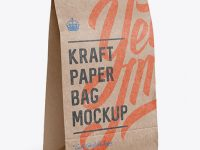 Kraft Paper Food/Snack Bag Mockup - Halfside View