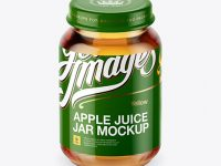 Baby Apple Juice Jar Mockup - High-Angle Shot