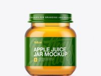 Baby Apple Juice Small Jar Mockup - Front View