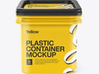 Plastic Container Mockup - Front View (High-Angle Shot)