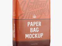 Paper Bag Mockup - Halfside View