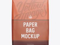 Paper Bag Mockup - Front View
