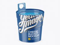 Matte Cheese Bucket Mockup (High-Angle Shot)