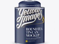 Matte Tea Tin Can Mockup