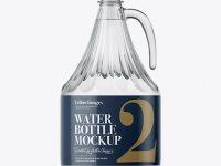 3L Clear Glass Water Bottle With Handle Mockup
