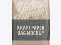 Glossy Kraft Paper Bag Mockup - Front View
