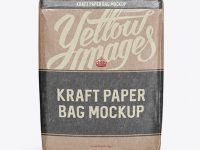 Glossy Kraft Paper Bag Mockup - Front View (High-Angle Shot)