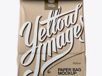 Kraft Paper Bag Mockup - Front View